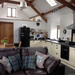 Hafod Iwrch's open plan living area and modern kitchen