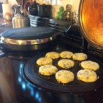 Welsh Cakes cooked on our Aga