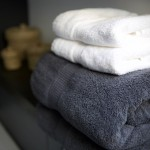 Thick fluffy cotton towels supplied